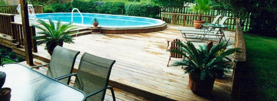 James hendriksen pool and deck we build custom flagstone for High quality above ground pools